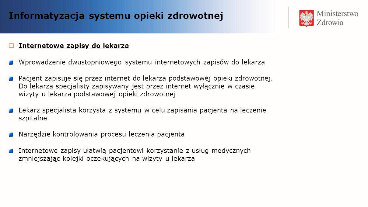 Informatyzacja systemu opieki zdrowotnej