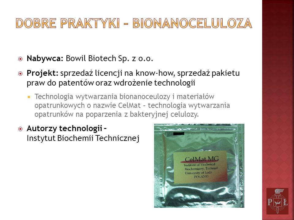 Dobre praktyki – Bionanoceluloza