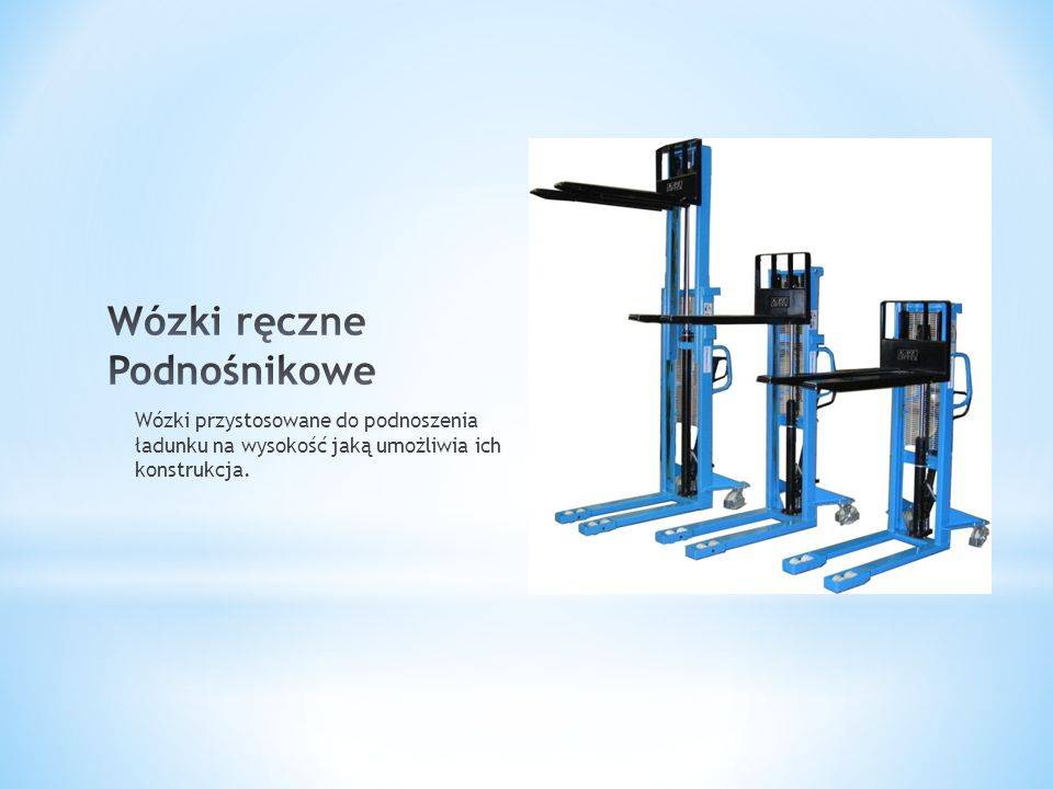 Wózki ręczne Podnośnikowe