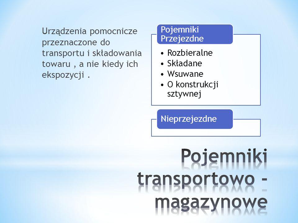 Pojemniki transportowo - magazynowe