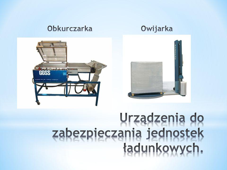 Urządzenia do zabezpieczania jednostek ładunkowych.