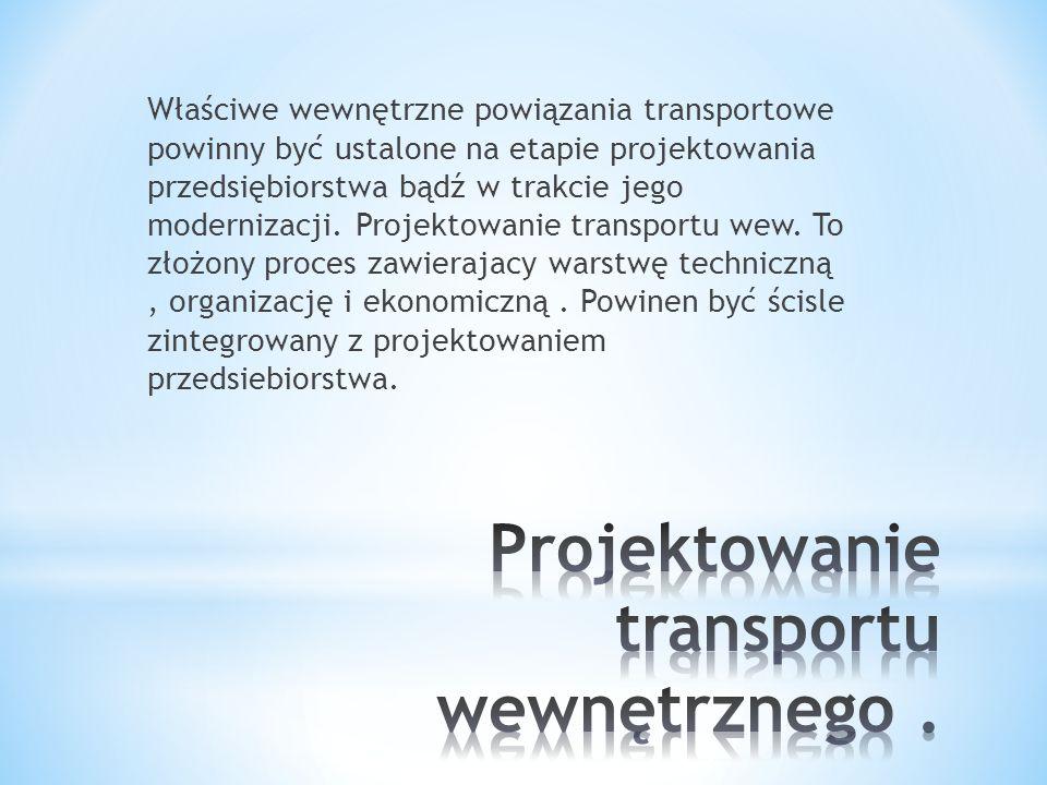 Projektowanie transportu wewnętrznego .