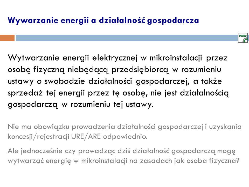 Wywarzanie energii a działalność gospodarcza