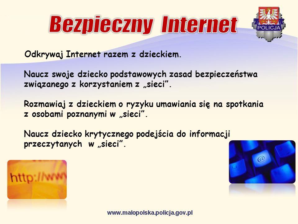 Bezpieczny InternetOdkrywaj Internet razem z dzieckiem.