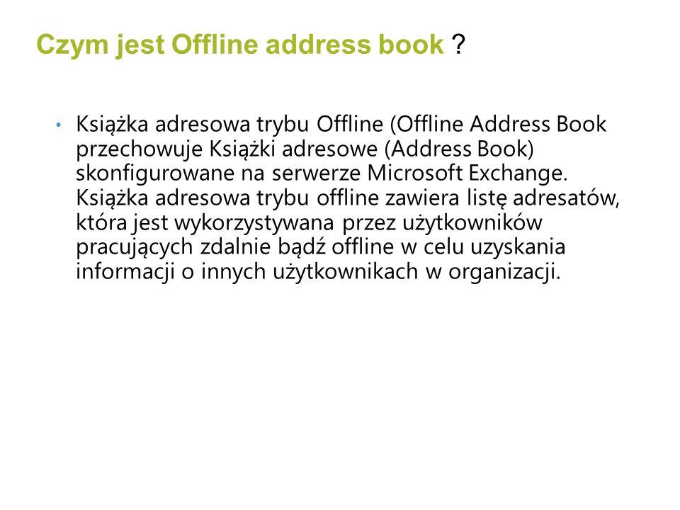 Czym jest Offline address book