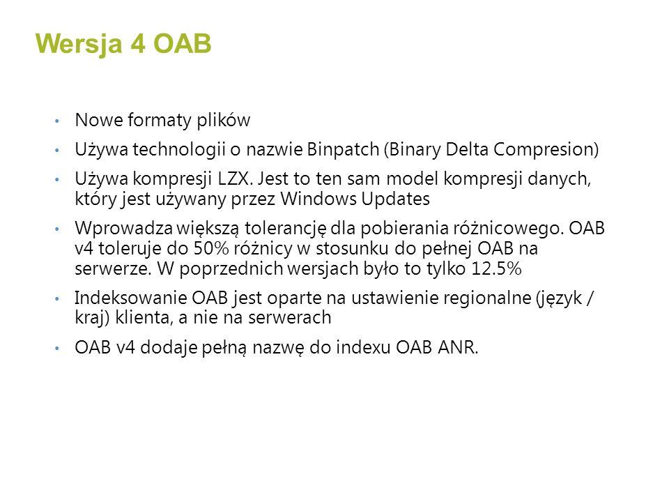 Wersja 4 OAB Nowe formaty plików