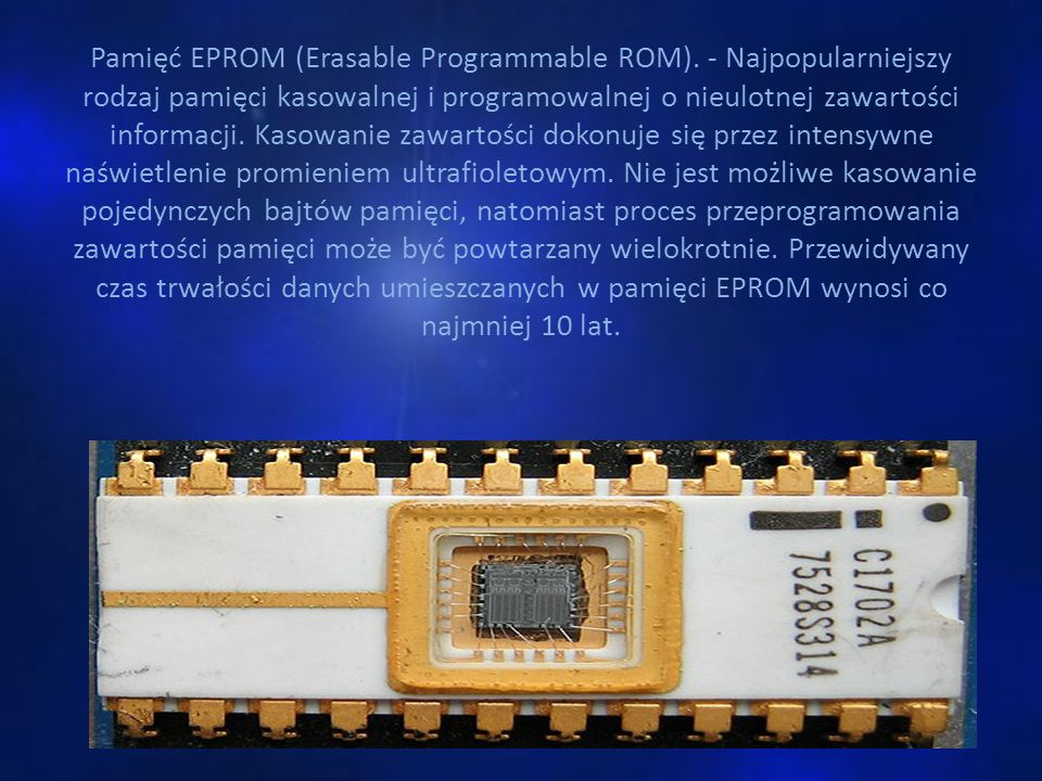 Pamięć EPROM (Erasable Programmable ROM)