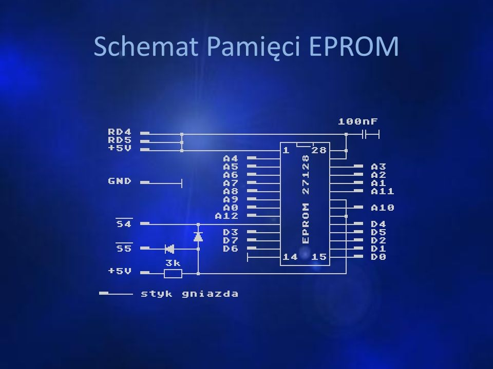 Schemat Pamięci EPROM