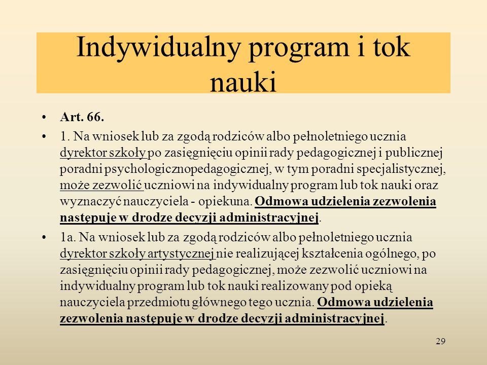 Indywidualny program i tok nauki