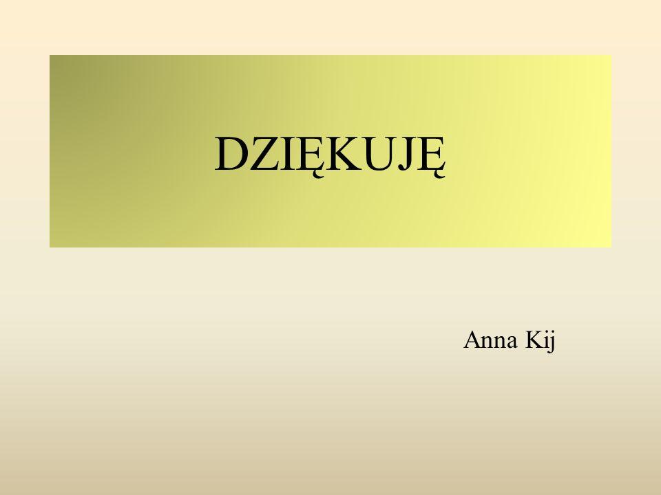 DZIĘKUJĘ Anna Kij