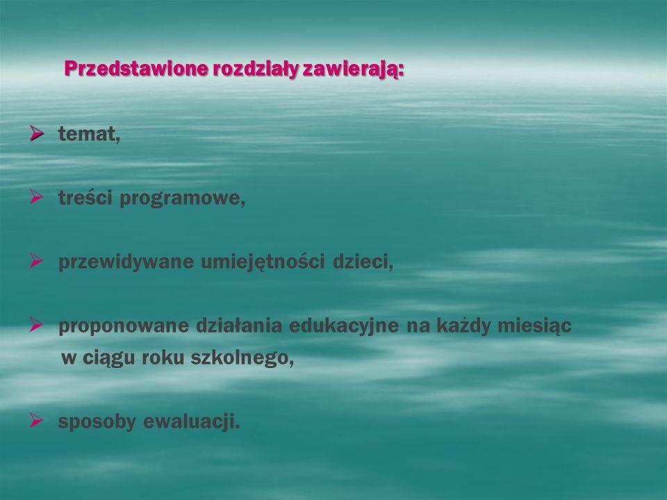 Przedstawione rozdziały zawierają: