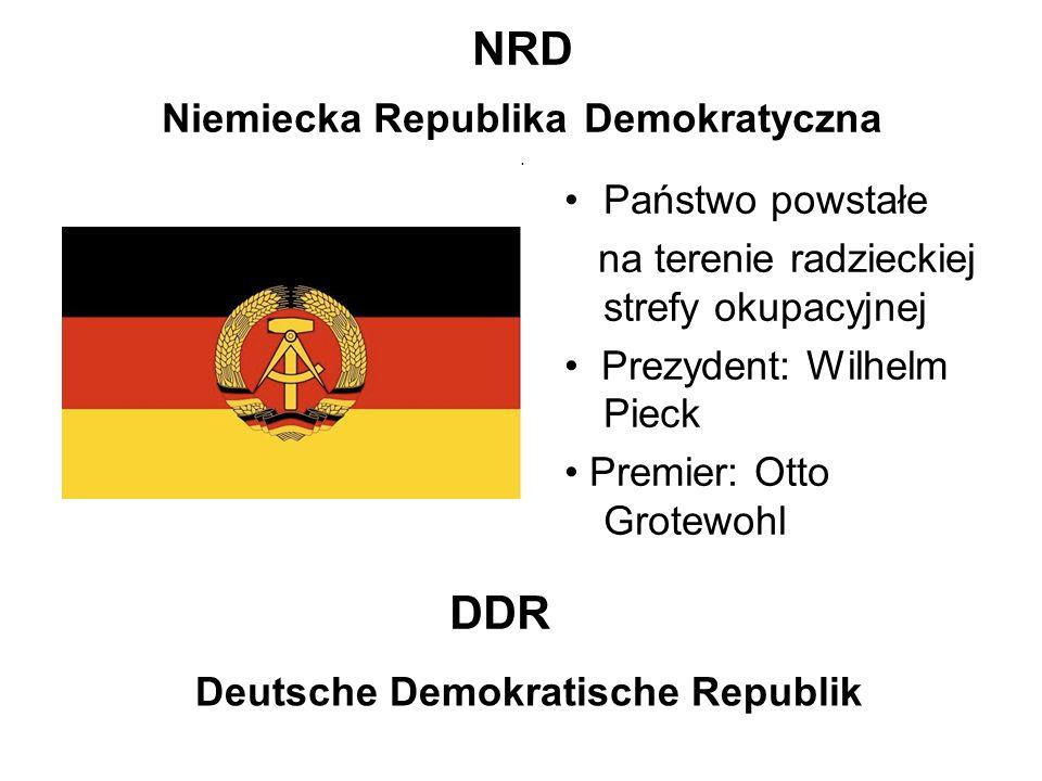 NRD Niemiecka Republika Demokratyczna .