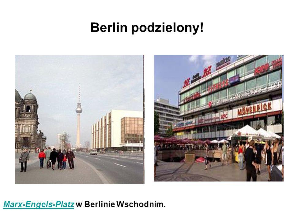 Berlin podzielony! Marx-Engels-Platz w Berlinie Wschodnim.