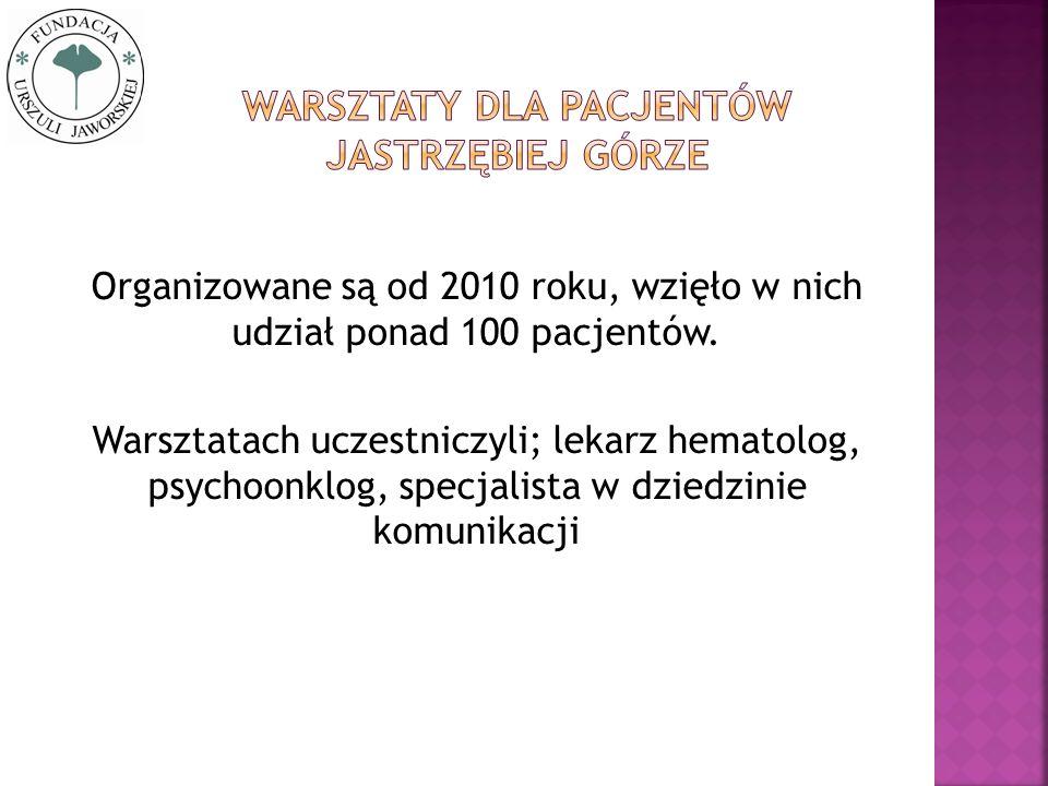 Warsztaty dla pacjentów Jastrzębiej górze