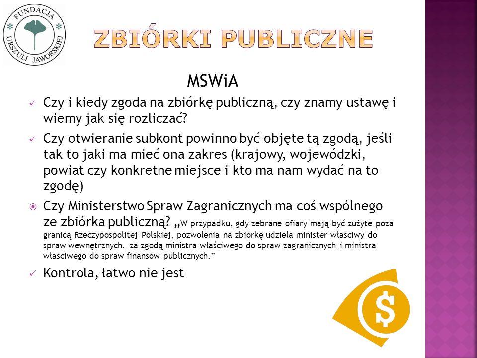 Zbiórki publiczne MSWiA