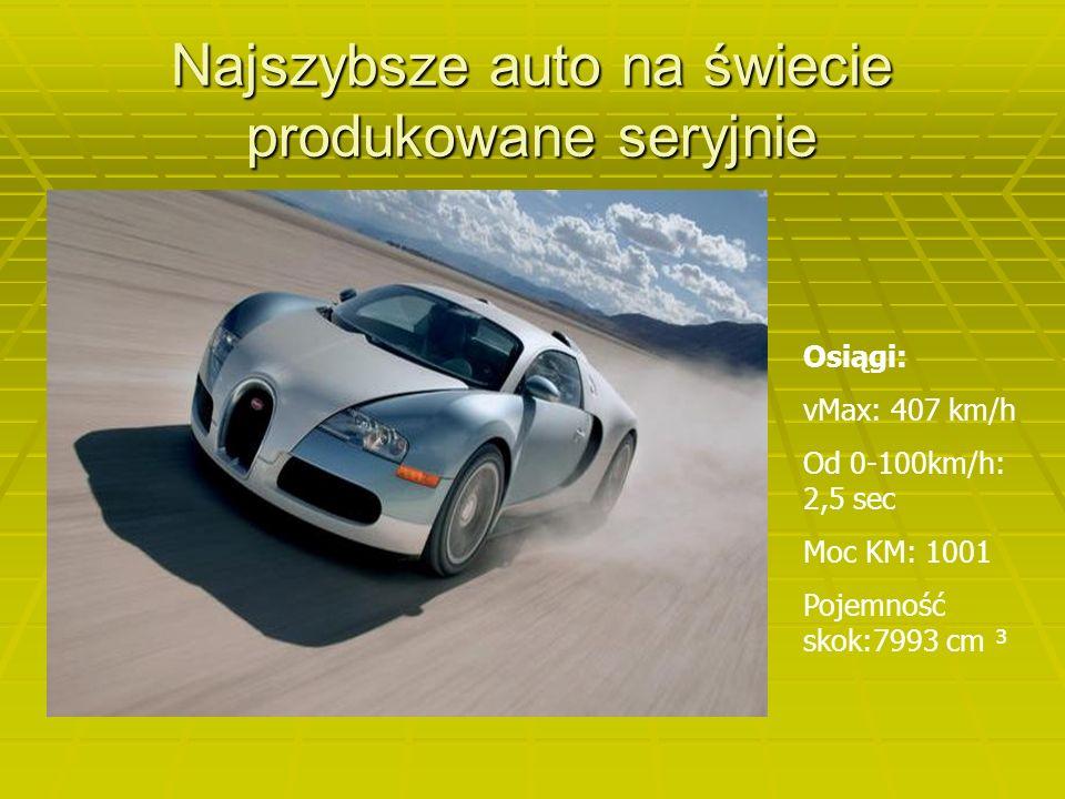 Najszybsze auto na świecie produkowane seryjnie