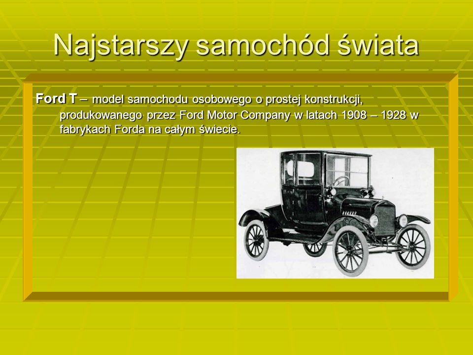 Najstarszy samochód świata