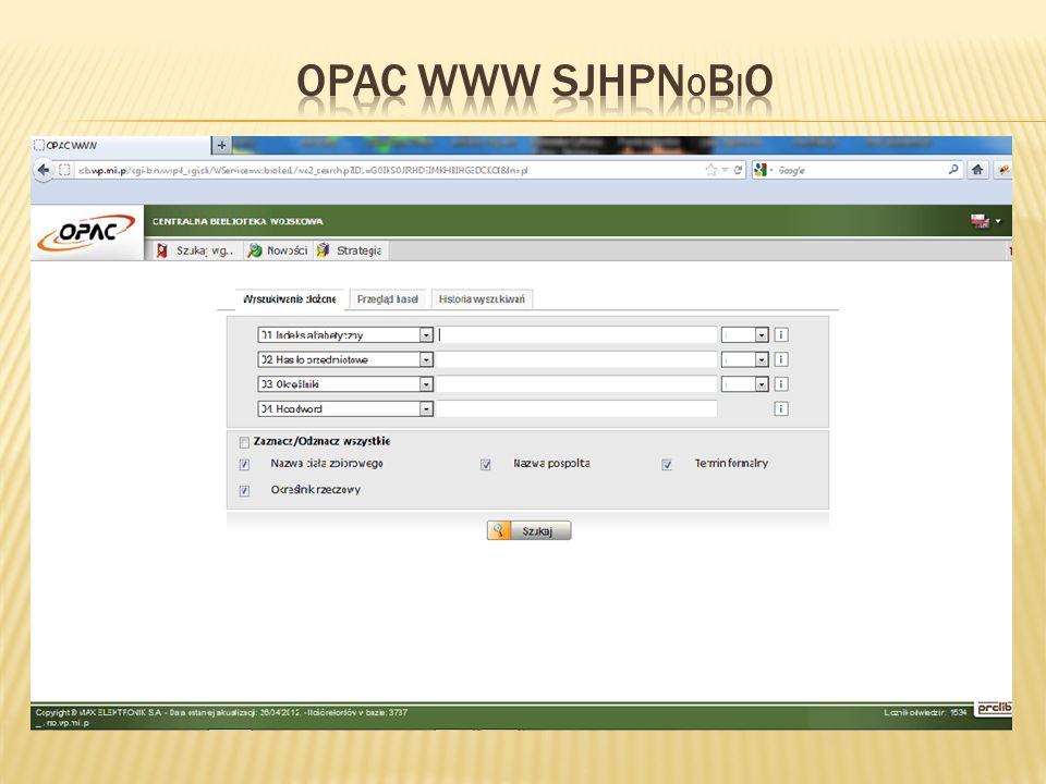 OPAC WWW SJHPNobiO