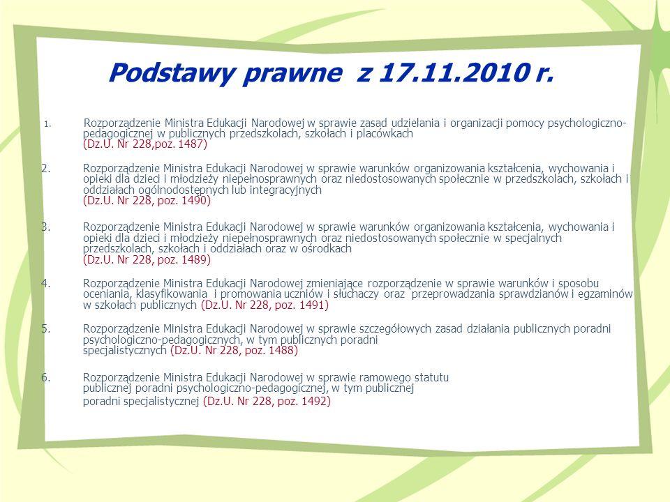 Podstawy prawne z 17.11.2010 r.