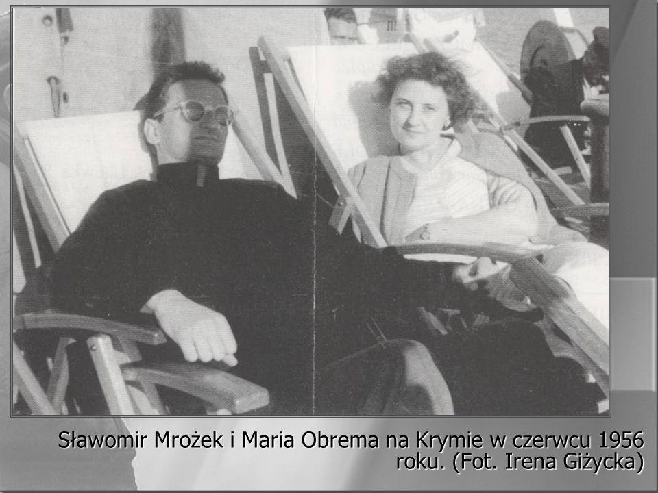 Sławomir Mrożek i Maria Obrema na Krymie w czerwcu 1956 roku. (Fot