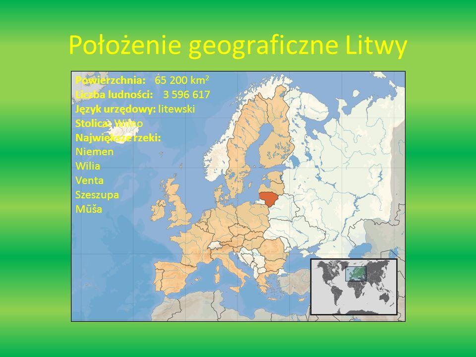 Położenie geograficzne Litwy