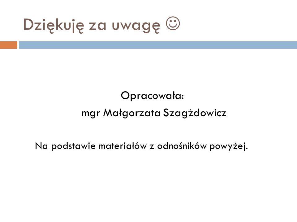 mgr Małgorzata Szagżdowicz
