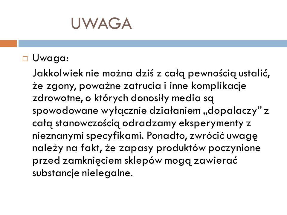 UWAGA Uwaga: