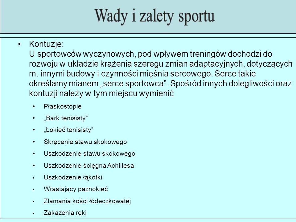 Wady i zalety sportu