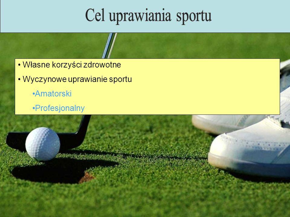 Cel uprawiania sportu Własne korzyści zdrowotne