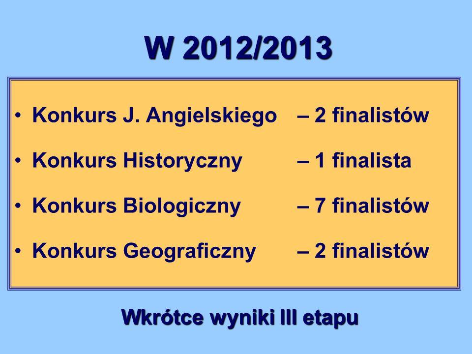 Wkrótce wyniki III etapu