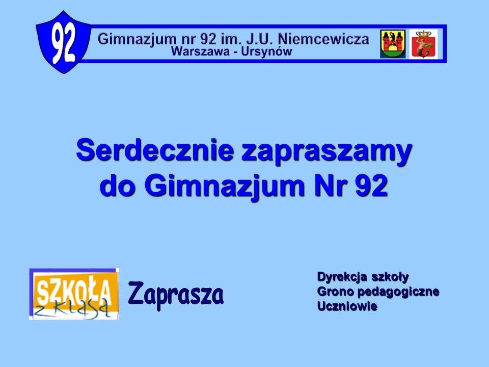 Gimnazjum nr 92 im. J.U. Niemcewicza