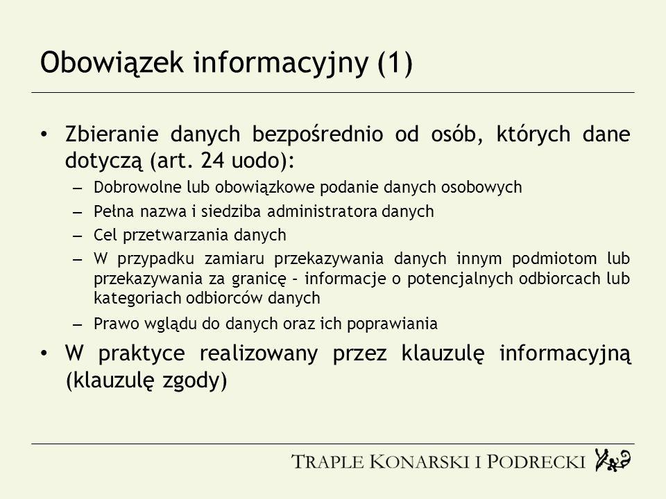 Obowiązek informacyjny (1)