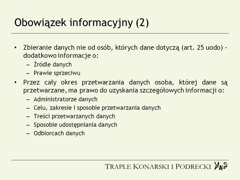 Obowiązek informacyjny (2)