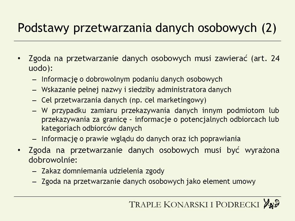 Podstawy przetwarzania danych osobowych (2)
