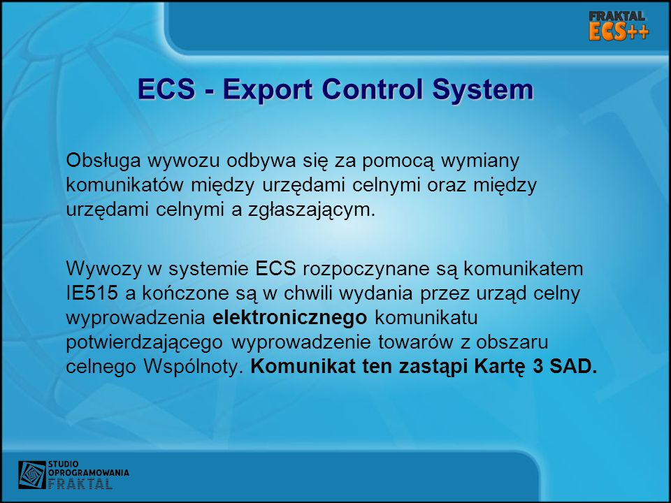 ECS - Export Control System