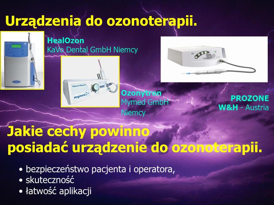 Urządzenia do ozonoterapii.