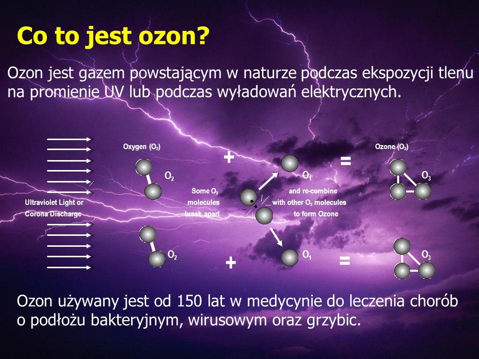 Co to jest ozon Ozon jest gazem powstającym w naturze podczas ekspozycji tlenu na promienie UV lub podczas wyładowań elektrycznych.