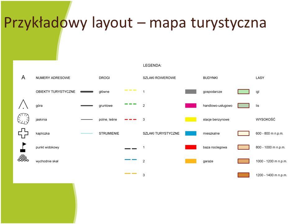 Przykładowy layout – mapa turystyczna