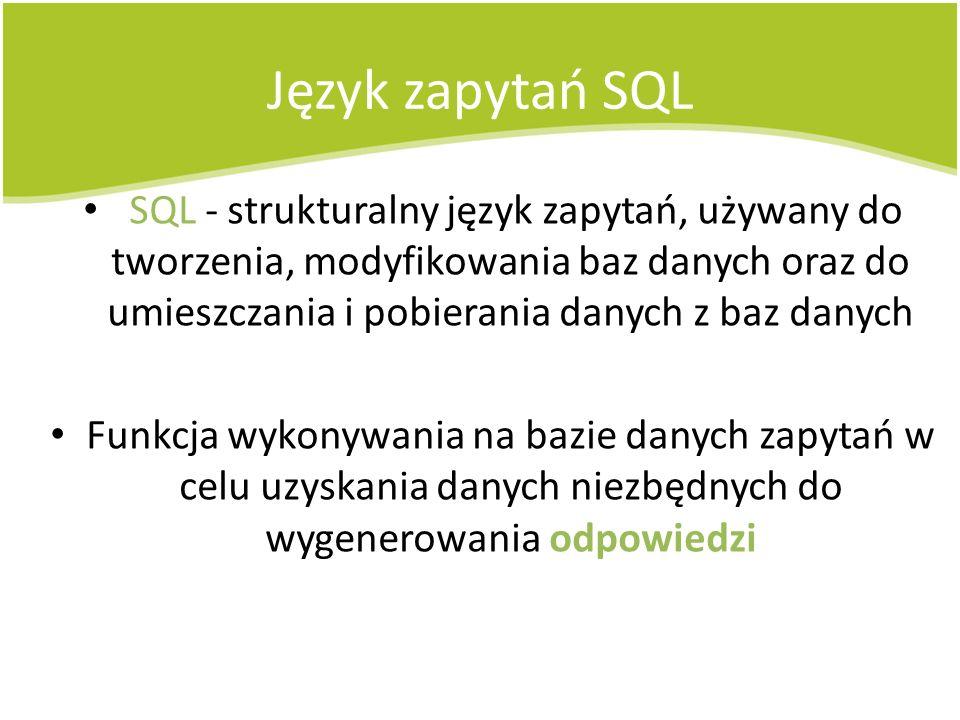 Język zapytań SQL