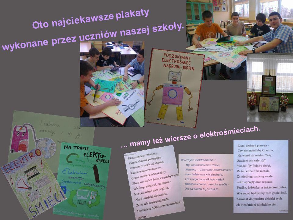 Oto najciekawsze plakaty wykonane przez uczniów naszej szkoły.