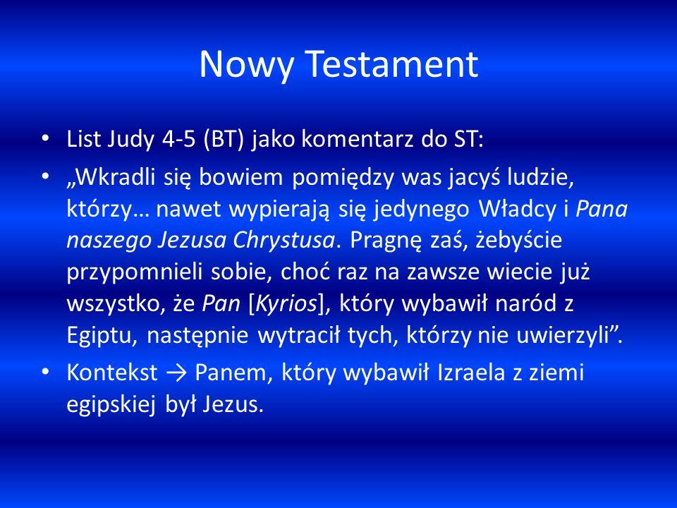Nowy Testament List Judy 4-5 (BT) jako komentarz do ST: