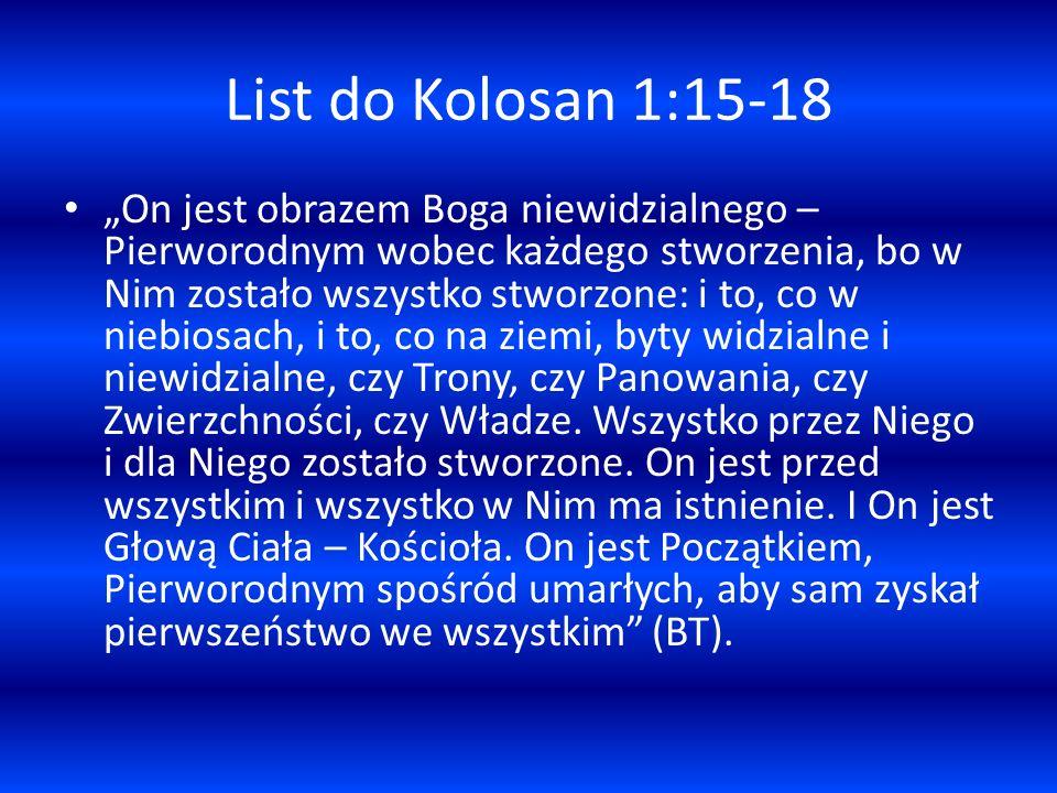 List do Kolosan 1:15-18
