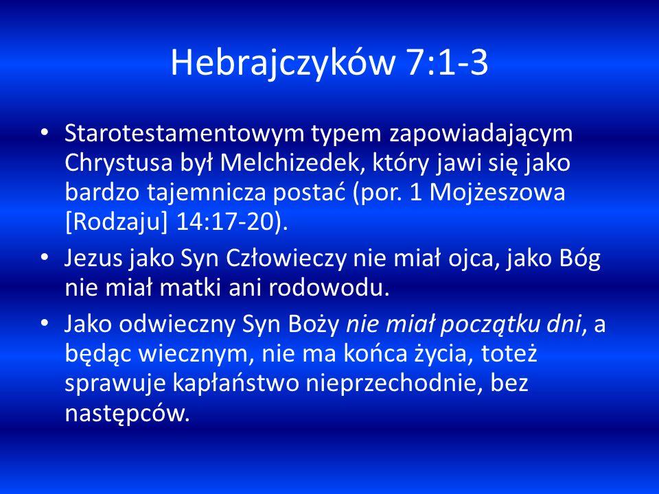 Hebrajczyków 7:1-3