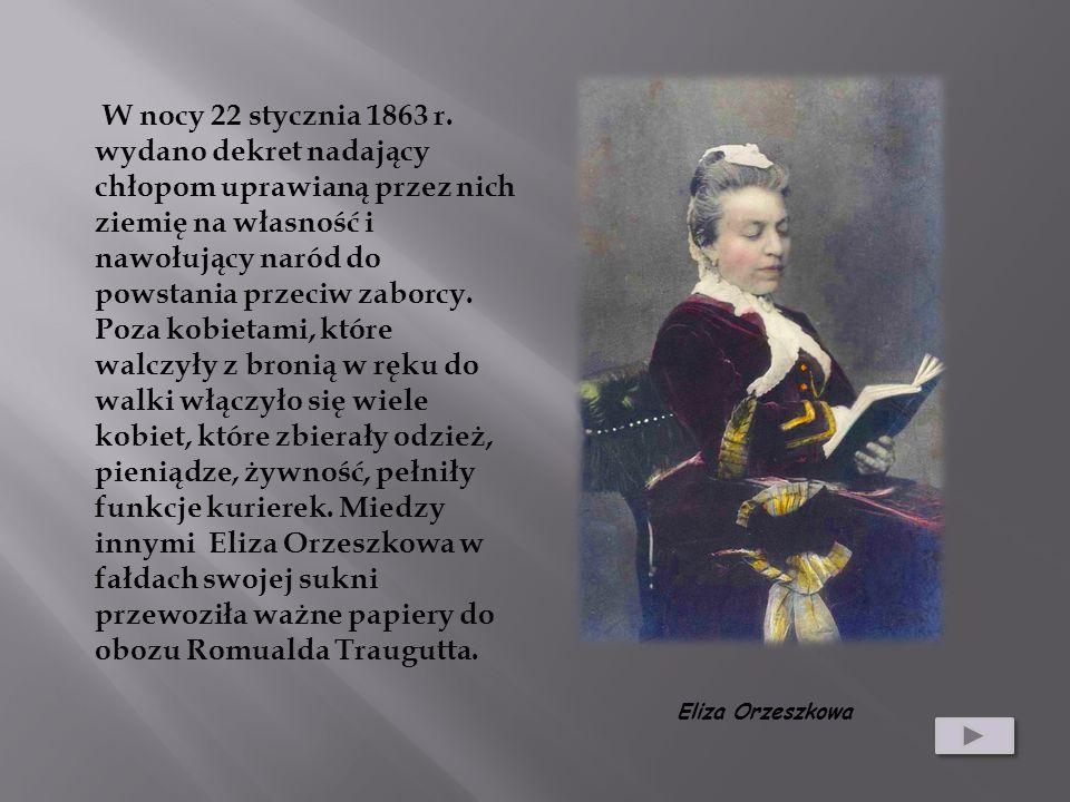 W nocy 22 stycznia 1863 r. wydano dekret nadający chłopom uprawianą przez nich ziemię na własność i nawołujący naród do powstania przeciw zaborcy.