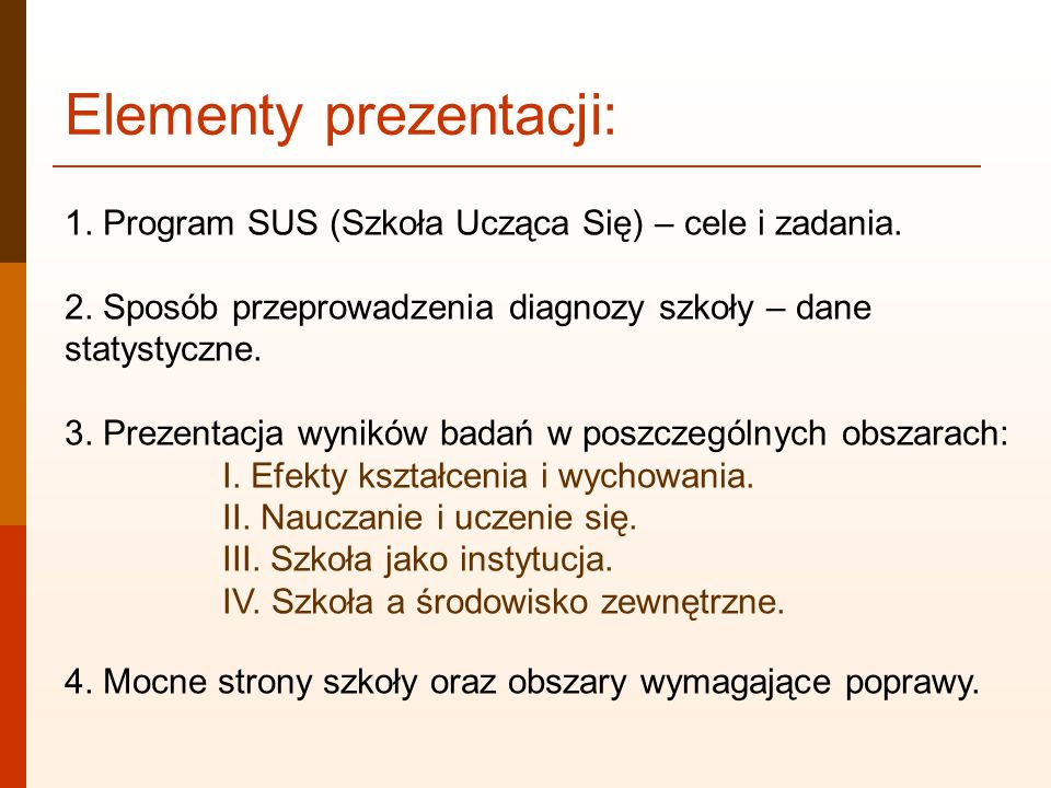 Elementy prezentacji:
