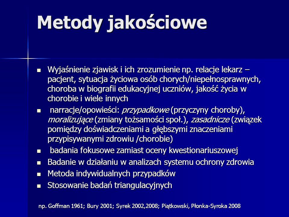 Metody jakościowe