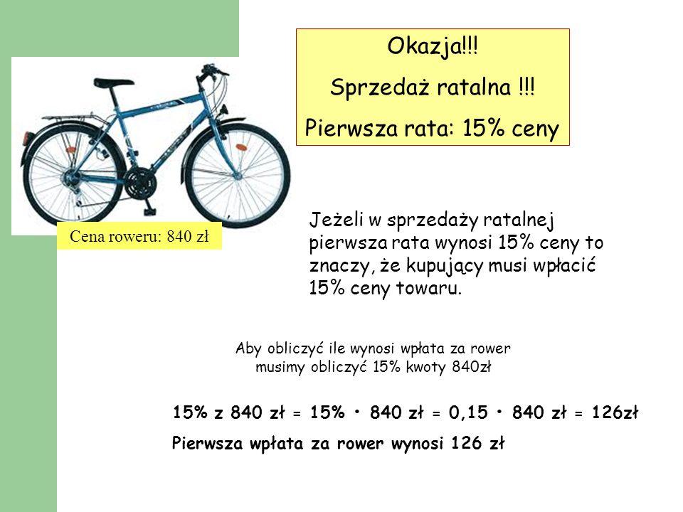 Okazja!!! Sprzedaż ratalna !!! Pierwsza rata: 15% ceny