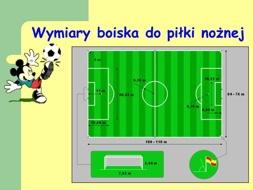 Wymiary boiska do piłki nożnej