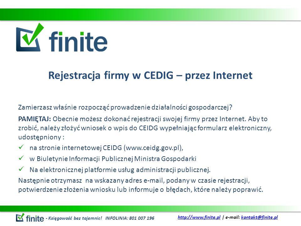 Rejestracja firmy w CEDIG – przez Internet