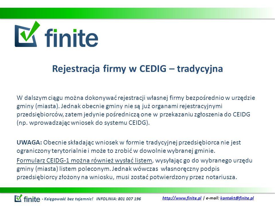 Rejestracja firmy w CEDIG – tradycyjna